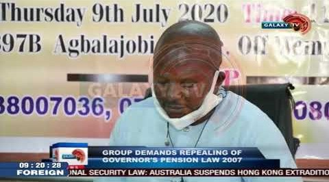 Group Demands Repealing of Governor's Pension Law 2007