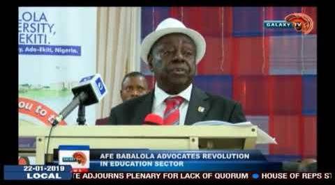 Afe Babalola Advocates Revolution In Education Sector