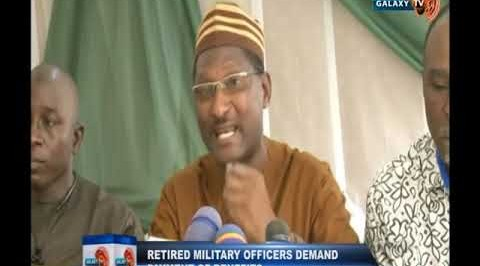 Retired Military Officers Demand Payment of Benefits