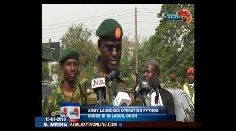 Army Flags Off Operation Python Dance In Lagos, Ogun