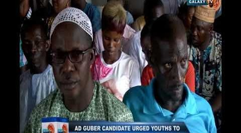 AD guber candidate urged youths to shun violence