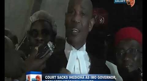 Court Sacks Ihedioha as Imo Governor, Declares Hope Uzodinma Winner