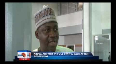 Abuja airport in full swing, days after reopening