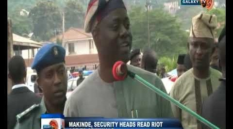 Makinde, Security Heads Read Riot act to Criminals
