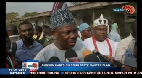 AMOSUN HARPS ON OGUN STATE MASTER PLAN