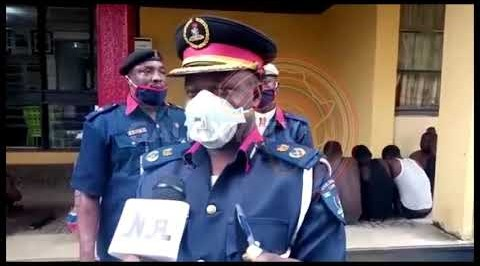 Eight suspected armed robbers arrested by men of the Oyo command of NSCDC on Sunday in Apata, ibadan