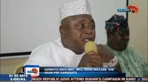 Adebutu Says INEC Will Soon Declare Him Ogun PDP Candidate