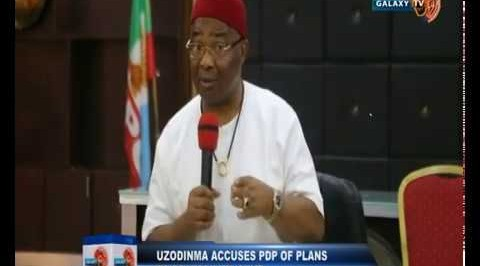 Uzodinma Accuses PDP of Plans to Destabilize his Government
