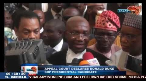 Appeal Court Declares Donald Duke SDP Presidential Candidate