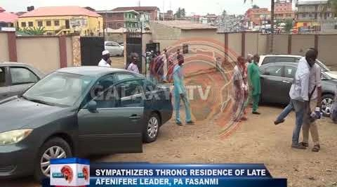Sympathizers Thong Residence of Late Afenifere Leader, Pa Fasanmi