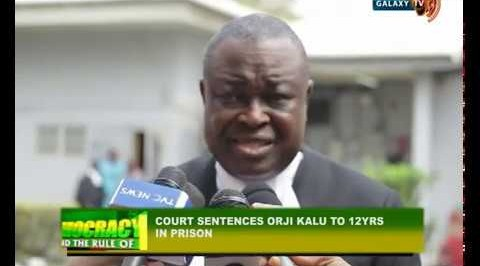 Court Sends Orji Uzor Kalu to Prison