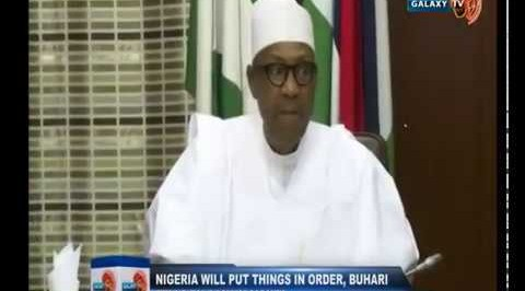 Nigeria will put things in Order, Buhari tell European Union Commissioner