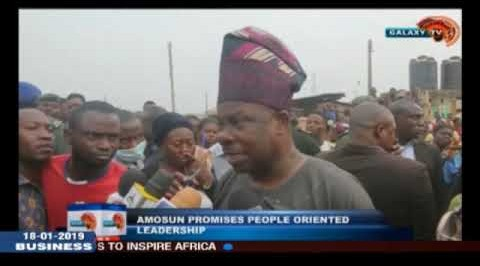 Amosun Promises People Oriented Leadership