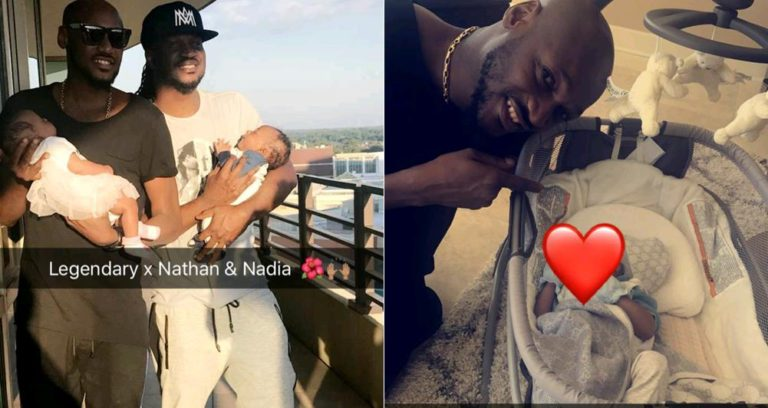 2face visits Paul Okoye's twins